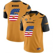 Wholesale Cheap Missouri Tigers 6 J'Mon Moore Gold USA Flag Nike College Football Jersey