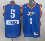 Wholesale Cheap Oklahoma City Thunder #5 Kendrick Perkins 2014 Christmas Day Blue Jersey