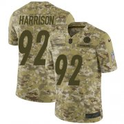 Wholesale Cheap Nike Steelers #92 James Harrison Camo Youth Stitched NFL Limited 2018 Salute to Service Jersey