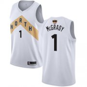 Wholesale Cheap Raptors #1 Tracy Mcgrady White 2019 Finals Bound Basketball Swingman City Edition 2018-19 Jersey