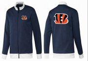 Wholesale Cheap NFL Cincinnati Bengals Team Logo Jacket Dark Blue_1