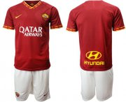 Wholesale Cheap Roma Blank Red Home Soccer Club Jersey