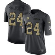 Wholesale Cheap Nike Giants #24 James Bradberry Black Men's Stitched NFL Limited 2016 Salute to Service Jersey