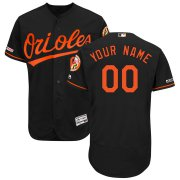Wholesale Cheap Baltimore Orioles Majestic Alternate Flex Base Authentic Collection Custom Jersey Black