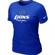 Wholesale Cheap Women's Nike Detroit Lions Critical Victory NFL T-Shirt Blue