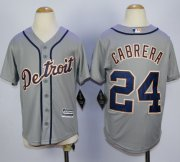 Wholesale Cheap Tigers #24 Miguel Cabrera Grey Cool Base Stitched Youth MLB Jersey