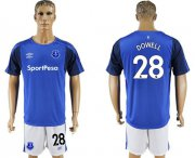 Wholesale Cheap Everton #28 Dowell Home Soccer Club Jersey