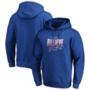Wholesale Cheap Buffalo Bills 2019 NFL Playoffs Bound Hometown Checkdown Pullover Hoodie Royal
