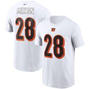 Wholesale Cheap Cincinnati Bengals #28 Joe Mixon Nike Team Player Name & Number T-Shirt White