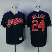 Wholesale Cheap Indians #24 Andrew Miller Navy Blue New Cool Base Stitched MLB Jersey