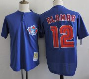 Wholesale Cheap Mitchell And Ness 1997 Blue Jays #12 Roberto Alomar Blue Throwback Stitched MLB Jersey