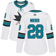 Wholesale Cheap Adidas Sharks #28 Timo Meier White Road Authentic Women's Stitched NHL Jersey