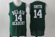 Wholesale Cheap Bel-Air 14 Smith Green Stitched Basketball Jersey