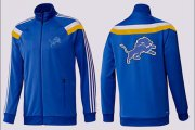 Wholesale Cheap NFL Detroit Lions Team Logo Jacket Blue_3