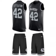 Wholesale Cheap Nike Raiders #42 Cory Littleton Black Team Color Men's Stitched NFL Limited Tank Top Suit Jersey