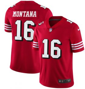 Wholesale Cheap Nike 49ers #16 Joe Montana Red Team Color Men\'s Stitched NFL Vapor Untouchable Limited II Jersey