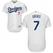 Wholesale Cheap Dodgers #7 Julio Urias White Flexbase Authentic Collection Stitched MLB Jersey