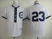 Wholesale Cheap Cubs #23 Ryne Sandberg White 1909 Turn Back The Clock Stitched MLB Jersey