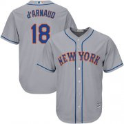 Wholesale Cheap Mets #18 Travis d'Arnaud Grey Cool Base Stitched Youth MLB Jersey