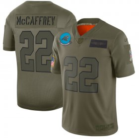 Wholesale Cheap Nike Panthers #22 Christian McCaffrey Camo Men\'s Stitched NFL Limited 2019 Salute To Service Jersey
