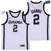 Wholesale Cheap Men's Mamba #2 Gianna White College Basketball Swingman Stitched Nike Jersey