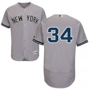 Wholesale Cheap Yankees #34 J.A. Happ Grey Flexbase Authentic Collection Stitched MLB Jersey