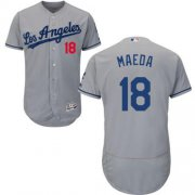 Wholesale Cheap Dodgers #18 Kenta Maeda Grey Flexbase Authentic Collection Stitched MLB Jersey