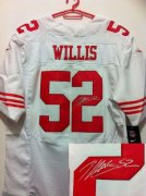 Wholesale Cheap Nike 49ers #52 Patrick Willis White Men's Stitched NFL Elite Autographed Jersey