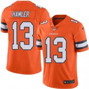 Wholesale Cheap Nike Broncos #13 KJ Hamler Orange Men's Stitched NFL Limited Rush Jersey