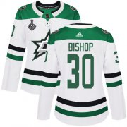Cheap Adidas Stars #30 Ben Bishop White Road Authentic Women's 2020 Stanley Cup Final Stitched NHL Jersey