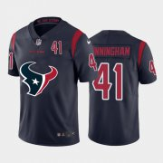 Wholesale Cheap Houston Texans #41 Zach Cunningham Navy Blue Men's Nike Big Team Logo Player Vapor Limited NFL Jersey