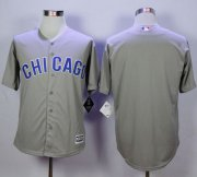 Wholesale Cheap Cubs Blank Grey New Cool Base Road Stitched MLB Jersey