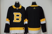 Wholesale Cheap Adidas Bruins Blank Black 2019-20 Authentic Third Stitched NHL Jersey