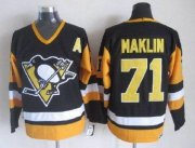 Wholesale Cheap Penguins #71 Evgeni Malkin Black CCM Throwback Stitched NHL Jersey