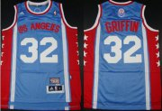 Wholesale Cheap Los Angeles Clippers #32 Blake Griffin ABA Hardwood Classic Swingman Blue Jersey