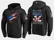 Wholesale Cheap Coyotes #32 Antti Raanta NHL Banner Wave Usa Flag Black Hoodie