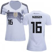Wholesale Cheap Women's Germany #16 Rudiger White Home Soccer Country Jersey