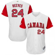 Wholesale Cheap Team Canada #24 Mike Reeves White 2017 World MLB Classic Authentic Stitched MLB Jersey