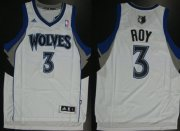 Wholesale Cheap Minnesota Timberwolves #3 Brandon Roy Revolution 30 Swingman White Jersey