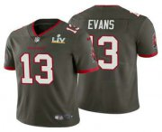 Wholesale Cheap Men's Tampa Bay Buccaneers #13 Mike Evans Grey 2021 Super Bowl LV Vapor Untouchable Stitched Nike Limited NFL Jersey