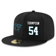 Wholesale Cheap Carolina Panthers #54 Shaq Thompson Snapback Cap NFL Player Black with White Number Stitched Hat