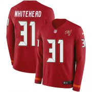 Wholesale Cheap Nike Buccaneers #31 Jordan Whitehead Red Team Color Men's Stitched NFL Limited Therma Long Sleeve Jersey