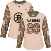 Wholesale Cheap Adidas Bruins #88 David Pastrnak Camo Authentic 2017 Veterans Day Women's Stitched NHL Jersey