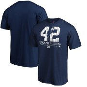 Wholesale Cheap New York Yankees #42 Mariano Rivera Majestic 2019 Hall of Fame Unanimous T-Shirt Navy