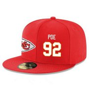 Wholesale Cheap Kansas City Chiefs #92 Dontari Poe Snapback Cap NFL Player Red with White Number Stitched Hat