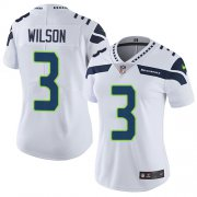 Wholesale Cheap Nike Seahawks #3 Russell Wilson White Women's Stitched NFL Vapor Untouchable Limited Jersey