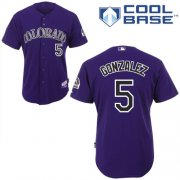 Wholesale Cheap Rockies #5 Carlos Gonzalez Purple Cool Base Stitched Youth MLB Jersey