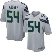 Wholesale Nike Seahawks #54 Bobby Wagner Grey Alternate Youth Stitched NFL Elite Jersey