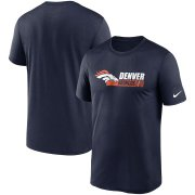 Wholesale Cheap Denver Broncos Nike Fan Gear Team Conference Legend Performance T-Shirt Navy