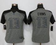 Wholesale Cheap Nike Buccaneers #13 Mike Evans Gray Women's Stitched NFL Limited Gridiron Gray Jersey